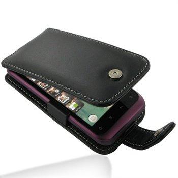 HTC Rhyme S510b PDair Læder Taske 3BHTRHF41 - Sort PDair til  - MediaNyt.dk