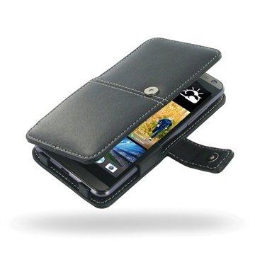 HTC Desire 700 Dual Sim PDair Læder Taske 3BHTDIB41  - Sort PDair til  - MediaNyt