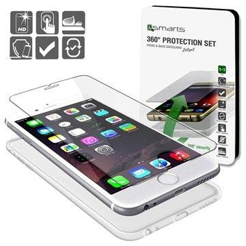 iPhone 6 / 6S 4smarts 360 Beskyttelsessæt - Gennemsigtigt