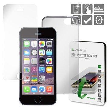 iPhone 5 / 5S / SE 4smarts 360 Beskyttelsessæt - Gennemsigtigt