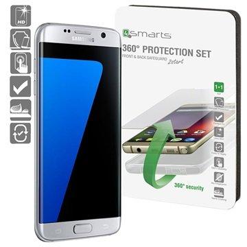 Samsung Galaxy S7 Edge 4smarts 360 Beskyttelsessæt - Gennemsigtigt