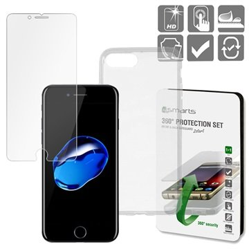 iPhone 7 Plus / iPhone 8 Plus 4smarts 360 Beskyttelsessæt - Gennemsig
