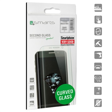 4smarts Curved Glass Samsung Galaxy S9 Panserglas - Klar