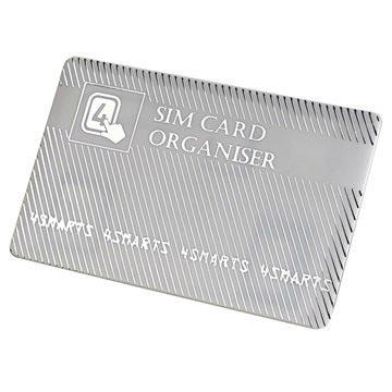 4smarts SIM Kort Holder & Adapter Sæt - Sølv