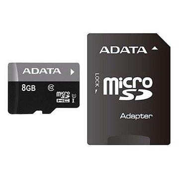 Adata AUSDH8GUICL10-RA1 Premier MicroSDHC Hukommelseskort - 8GB ADATA til  - MediaNyt.dk