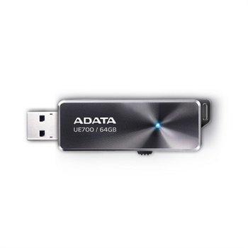 Adata DashDrive Elite UE700 USB 3.0 Flash - 64GB - Sort ADATA til  - MediaNyt