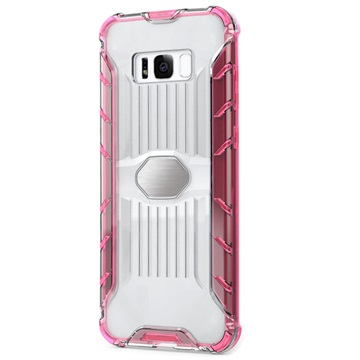 Armor Combo Samsung Galaxy S8 Hybrid Cover - Gennemsigtig / Hot Pink