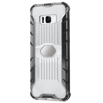 Armor Combo Samsung Galaxy S8 Hybrid Cover - Gennemsigtig / Sort
