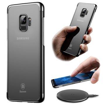 Baseus Glitter Samsung Galaxy S9 Cover - Gennemsigtig / Sort