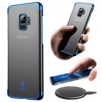 Baseus Glitter Samsung Galaxy S9 Cover - Gennemsigtig / Blå