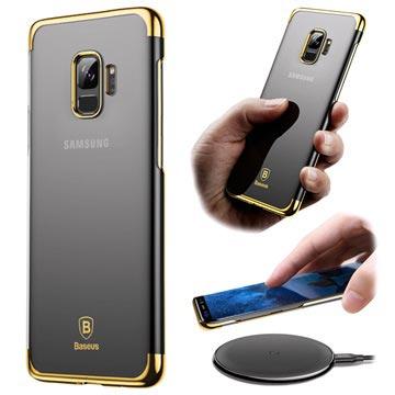 Baseus Glitter Samsung Galaxy S9 Cover - Gennemsigtig / Guld