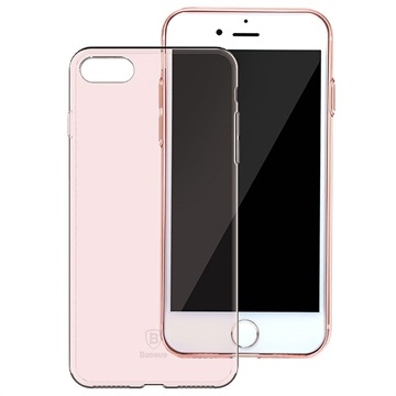 iPhone 7 / iPhone 8 Baseus Simple Series TPU Cover - Rødguld