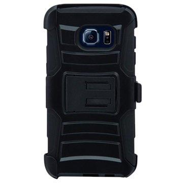 Samsung Galaxy S7 Edge Beyond Cell Armor Combo Cover - Sort
