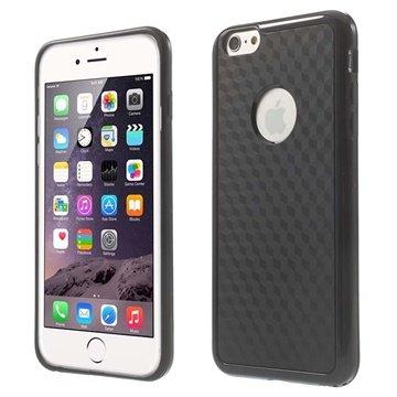 iPhone 6 Plus / 6S Plus Cube Design Hybrid Cover - Sort