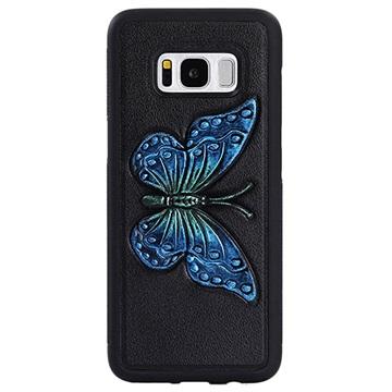 Dream Series Samsung Galaxy S8 3D Cover - Blå Sommerfugl