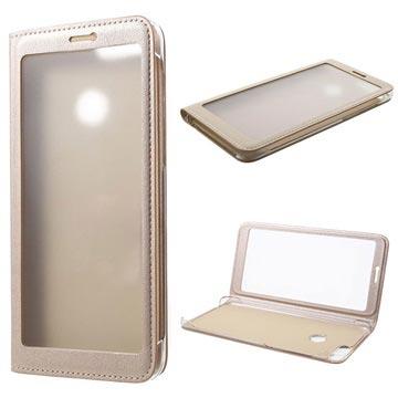 Full View Series Huawei P Smart Folio Taske - Guld