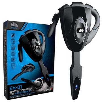Gioteck EX-01 Bluetooth Headset til PS3 - Sort
