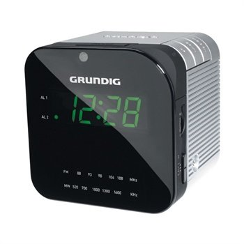 Grundig Sonoclock 590 Radio Clock - Sølv Grundig til  - MediaNyt.dk