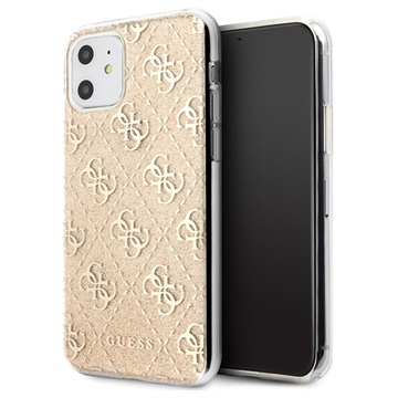 Guess 4G Glitter Collection iPhone 11 Cover - Guld