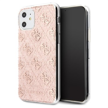 Guess 4G Glitter Collection iPhone 11 Cover - Pink