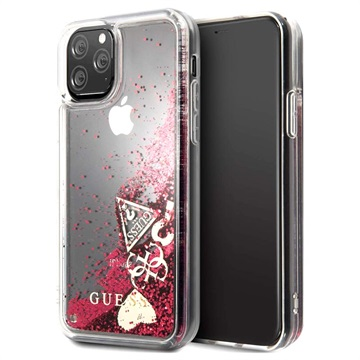 Guess Glitter Collection iPhone 11 Pro Cover - Hindbær