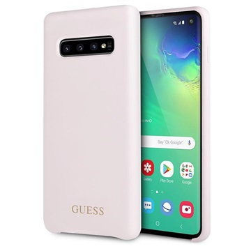 Guess Samsung Galaxy S10 Silikone Cover - Pink