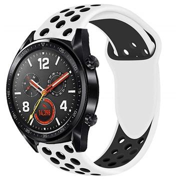 Huawei Watch GT Silikone Sportsrem - Hvid / Sort
