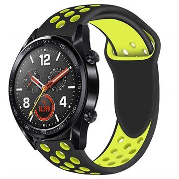 Huawei Watch GT Silikone Sportsrem - Gul / Sort