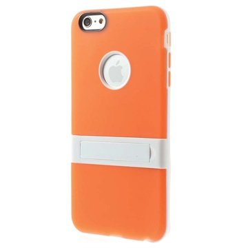 iPhone 6 Plus / 6S Plus Hybrid Aftagelig Stander Cover - Orange