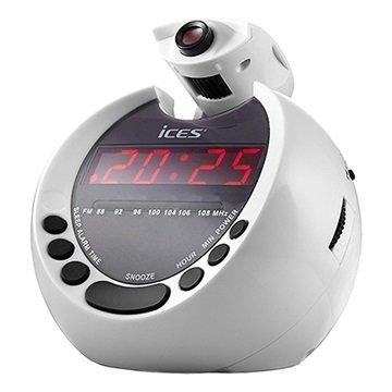 Ices ICRP-212 Vækkeur Radio - Hvid / Sort MTP Products til  - MediaNyt