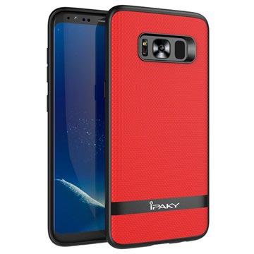 Ipaky Samsung Galaxy S8+ Hybrid Cover - Rød