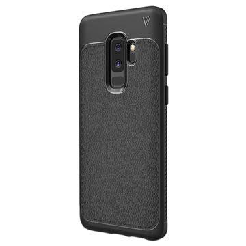Ivso Gentry Tekstureret Samsung Galaxy S9+ TPU Cover - Sort
