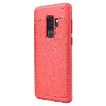 Ivso Gentry Tekstureret Samsung Galaxy S9+ TPU Cover - Rød