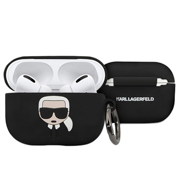 Karl Lagerfeld AirPods Pro Silikone Cover - Sort