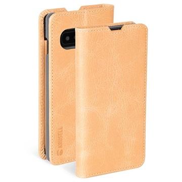Krusell Sunne 2 Card Samsung Galaxy S10+ Læderpung - Beige
