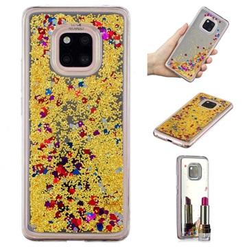 Liquid Glitter Series Huawei Mate 20 Pro TPU Cover - Guld