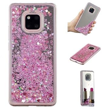 Liquid Glitter Series Huawei Mate 20 Pro TPU Cover - Pink