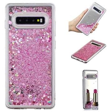 Liquid Glitter Series Samsung Galaxy S10+ TPU Cover - Pink
