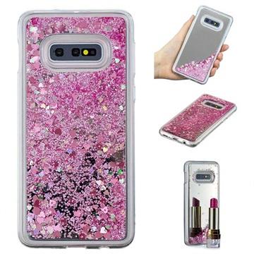 Liquid Glitter Series Samsung Galaxy S10e TPU Cover - Pink