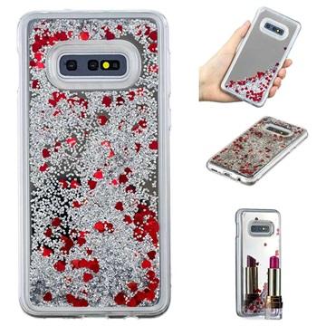Liquid Glitter Series Samsung Galaxy S10e TPU Cover - Sølv