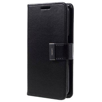 Samsung Galaxy S7 Mercury Goospery Rich Diary Pung Taske - Sort