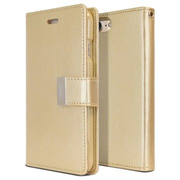 iPhone 7 Mercury Goospery Rich Diary Pung - Guld