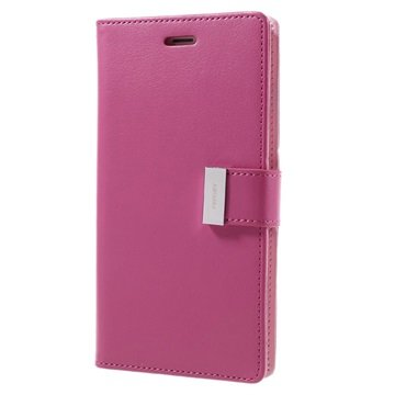 iPhone 7 Plus Mercury Goospery Rich Diary Pung - Hot Pink