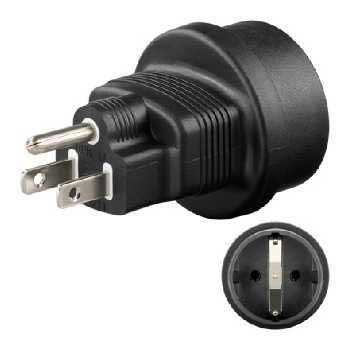 US / Euro Rejselader Plug Adapter