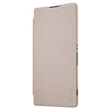 Nillkin Sparkle Sony Xperia XA Ultra Flip Cover - Guld Nillkin til  - MediaNyt