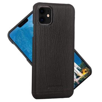 Pierre Cardin iPhone 11 Læder Dækket Cover - Sort
