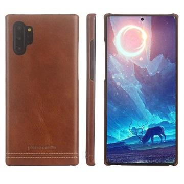 Pierre Cardin Samsung Galaxy Note10 Læder Dækket Cover - Brun