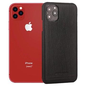 Pierre Cardin Læder Dækket iPhone 11 Pro Max Cover - Sort