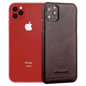 Pierre Cardin Læder Dækket iPhone 11 Pro Max Cover - Kaffe