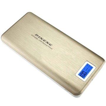 Pineng PN-999 Dual USB Eksternt Batteri / Power Bank - Guld MTP Products til  - MediaNyt